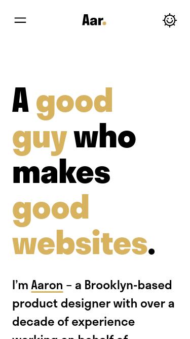 Aaron Shapiro mobile website