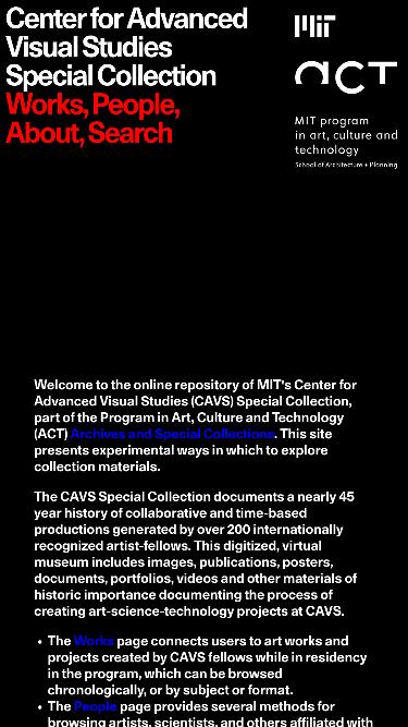 MIT Center mobile website