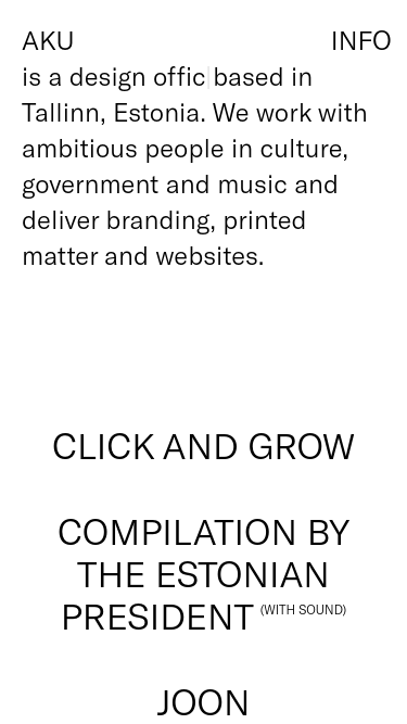 AKU  Visit minimal.gallery, follow on Twitter or receive the weekly/monthly round up mobile website