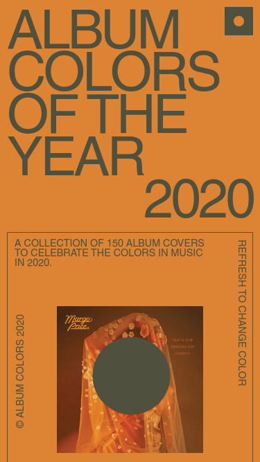 Album Colors Of The Year mobile website