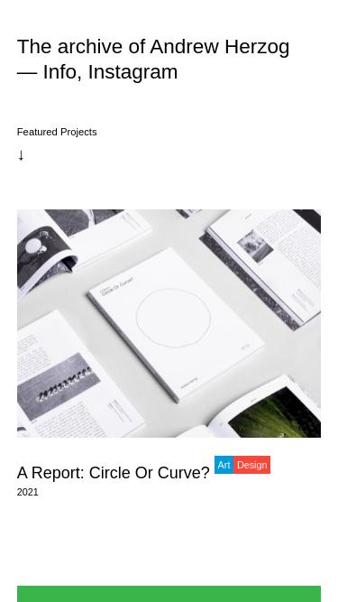 Andrew Herzog mobile website
