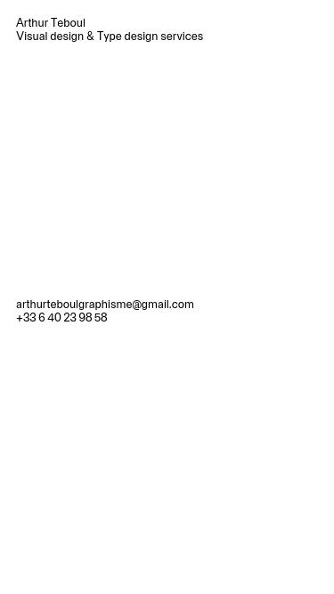 Arthur Teboul mobile website