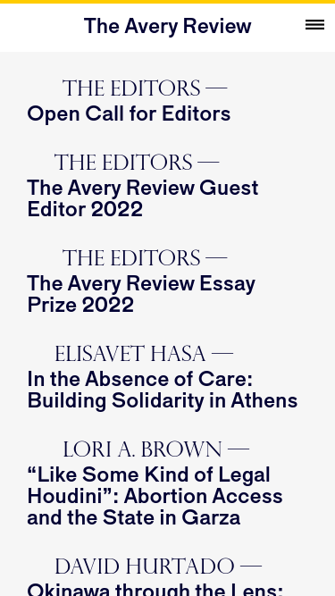 The Avery Review  Visit minimal.gallery, follow on Twitter or receive the weekly/monthly round up mobile website