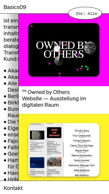 BASICS09 mobile website