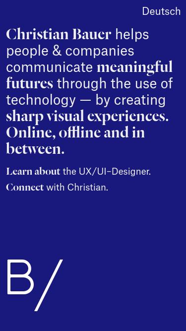 Christian Bauer mobile website