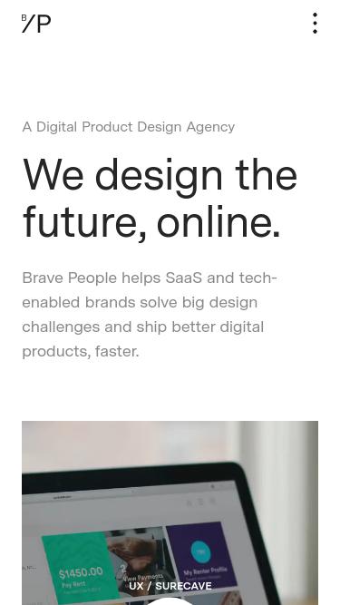 Brave People mobile website