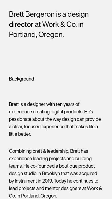Brett Bergeron mobile website