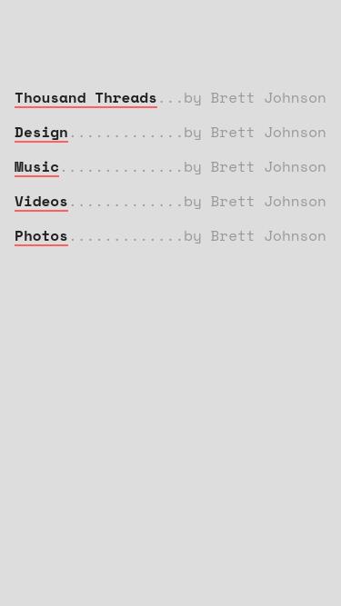 Brett Johnson mobile website