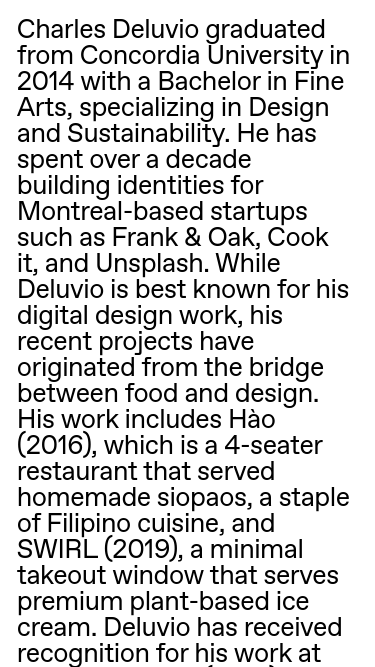 Charles Deluvio    Visit minimal.gallery, follow on Twitter or receive the weekly/monthly round up mobile website