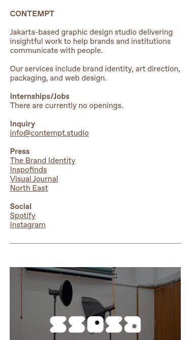 CONTEMPT mobile website