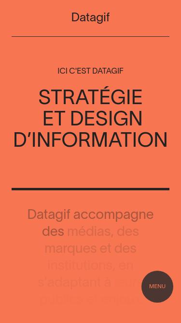 Datagif mobile website