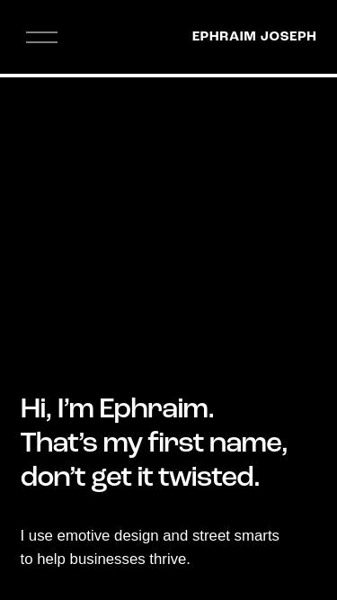 Ephraim Joseph mobile website