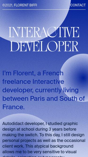 Florent Biffi mobile website