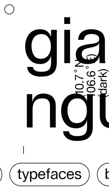 Giang Nguyen mobile website