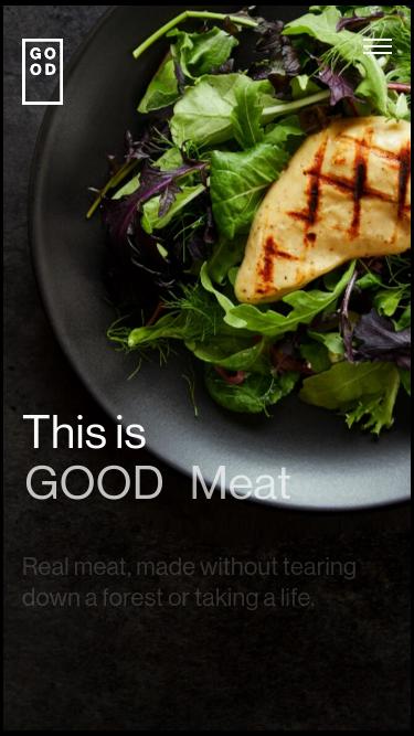 GOOD Meat mobile website