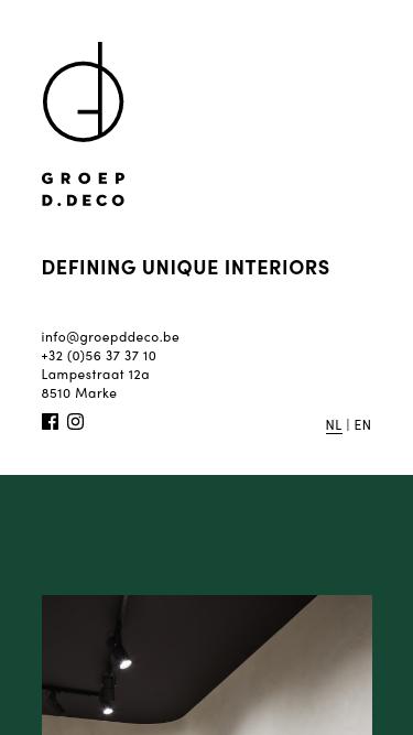 Groep D.Deco mobile website