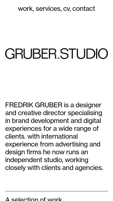 Fredrik Gruber mobile website