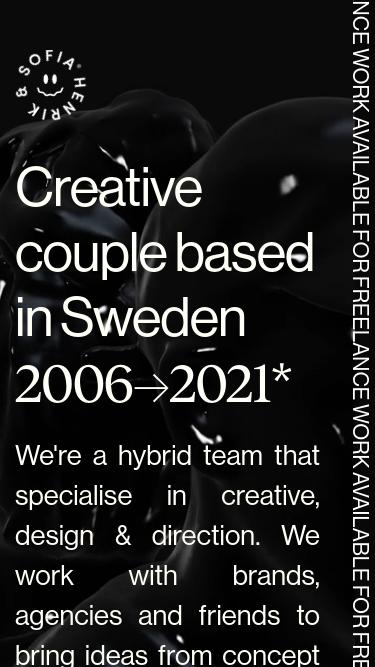 Henrik & Sofia mobile website