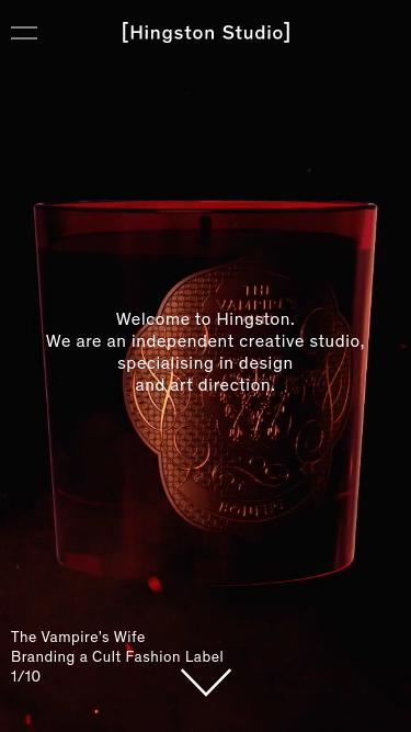 Hingston Studio mobile website