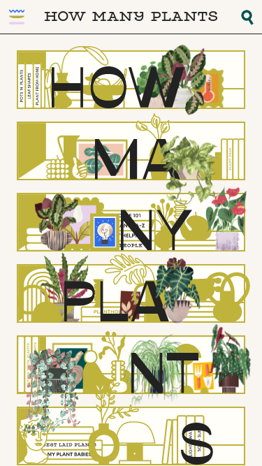 How Many Plants mobile website