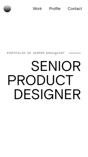 Jesper Dahlqvist mobile website