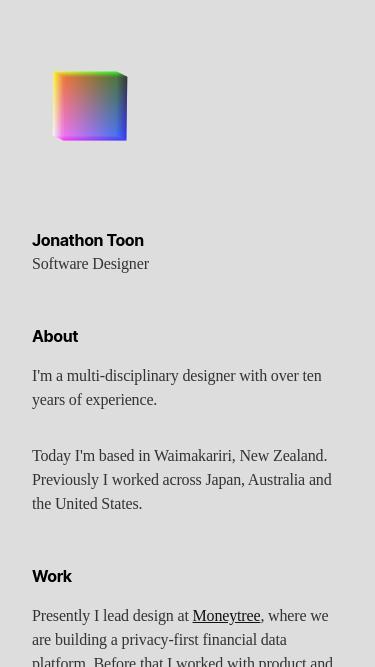 Jonathon Toon mobile website