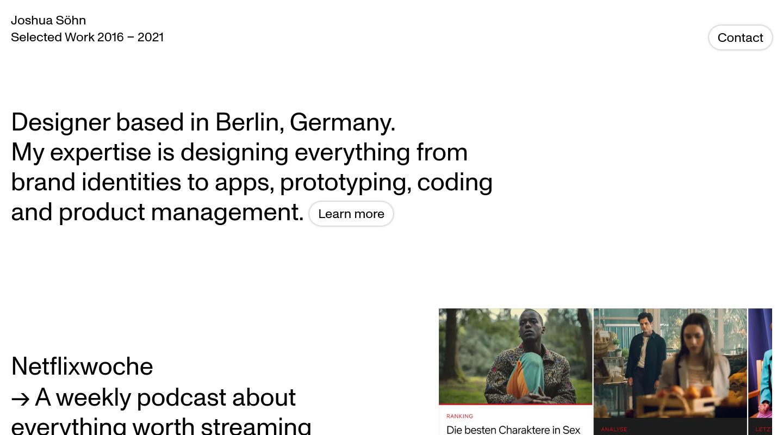 Joshua Söhn website