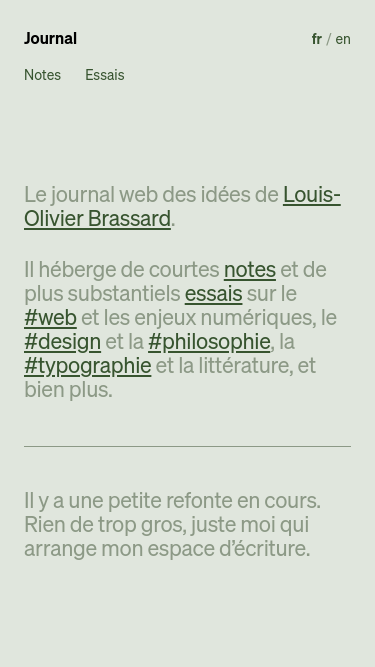 Le journal de Louis-Olivier Brassard mobile website