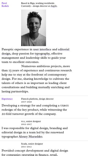 pavel kedich mobile website