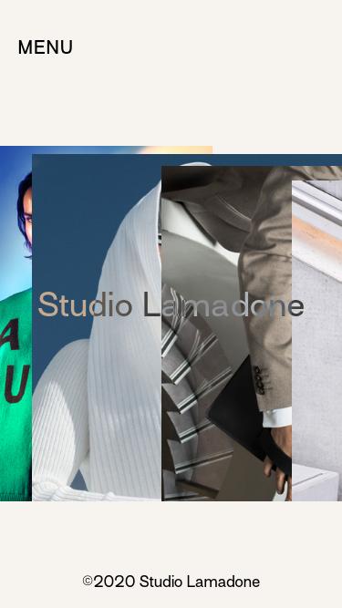 Studio Lamadone mobile website