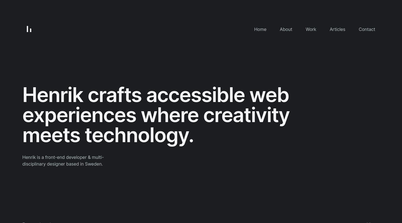 Henrik Larsson website