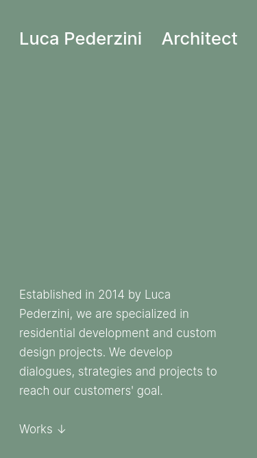 Luca Pederzini Architect mobile website