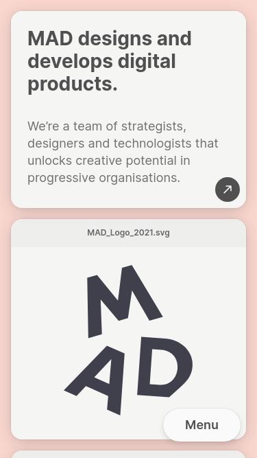 MAD mobile website