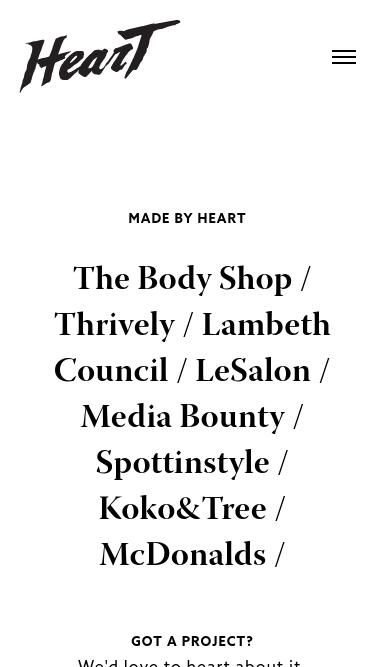 Heart mobile website