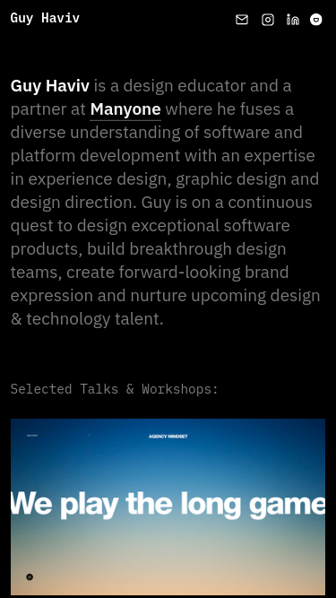Guy Haviv mobile website
