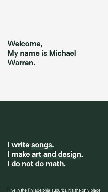 Michael Warren mobile website