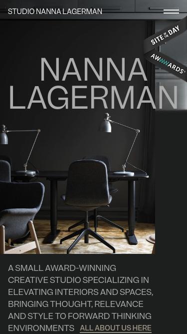 Nanna Lagerman mobile website