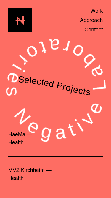 Negative mobile website