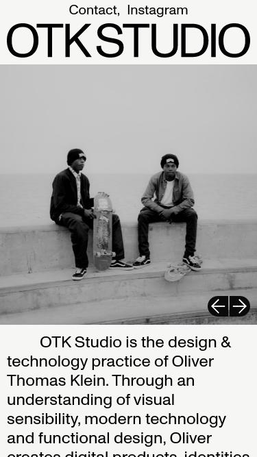 OTKSTUDIO mobile website