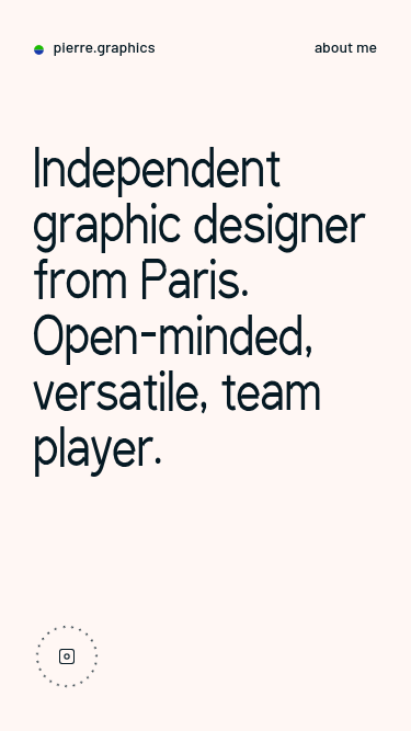 pierre.graphics mobile website