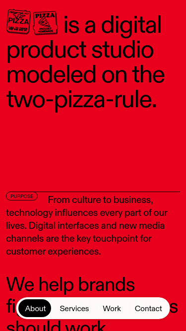 Pizza Pizza mobile website