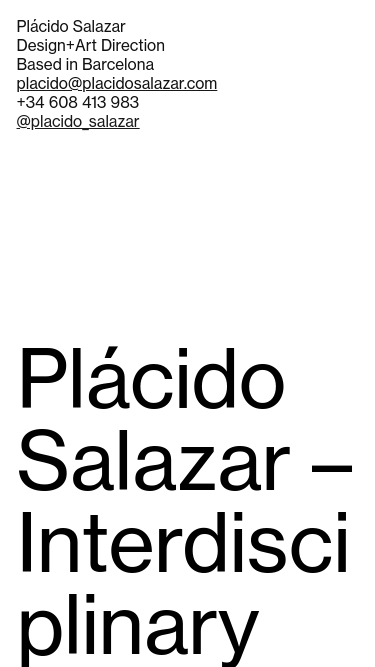 Plácido Salazar mobile website