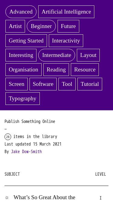 Publish Something Online mobile website
