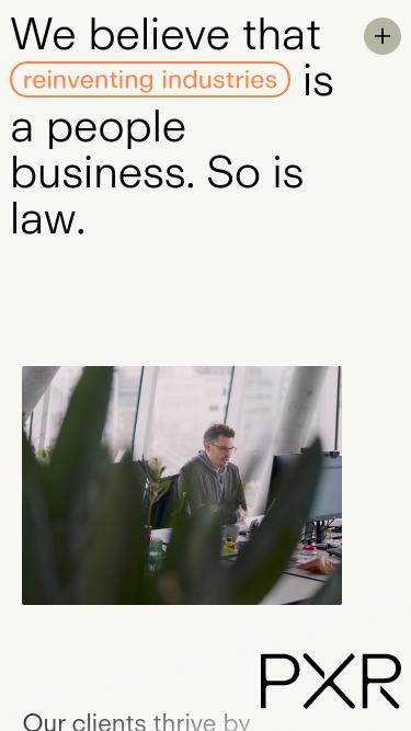 PXR Legal mobile website