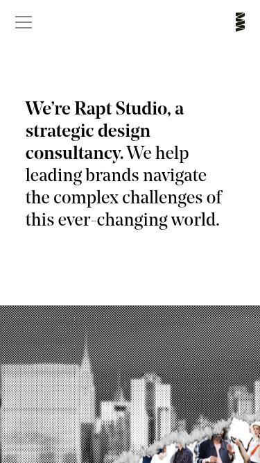 Rapt Studio mobile website