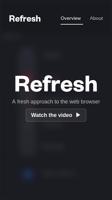 Refresh mobile website