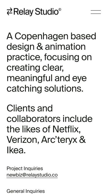 Relay Studio mobile website