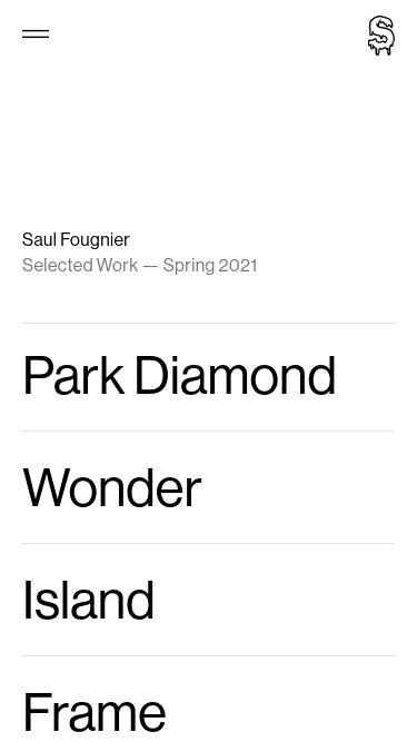 Saul Fougnier mobile website