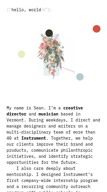 Sean Klassen mobile website