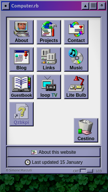 Simone's Computer mobile website